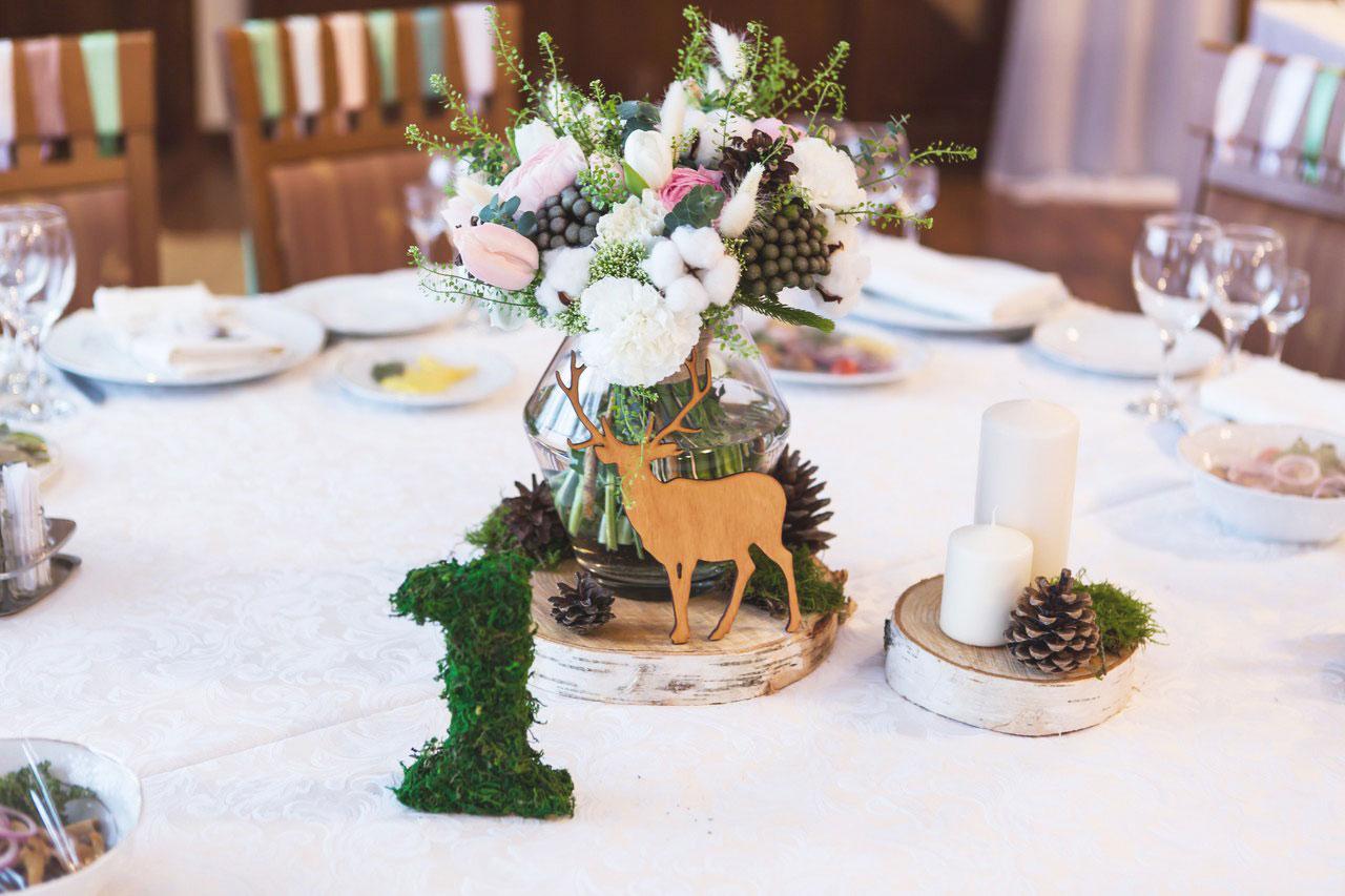 Украшение зимней свадьбы фото
